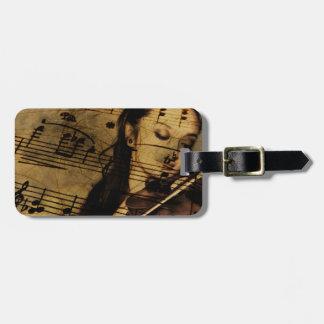 Artsy Violin Music Luggage Tag