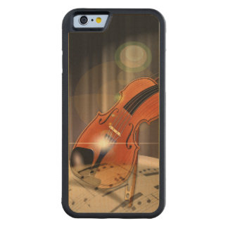 Artsy Violin Music Maple iPhone 6 Bumper