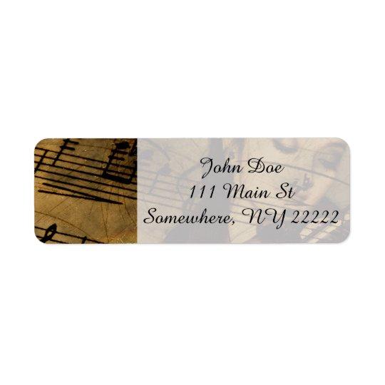 Artsy Violin Music Return Address Label