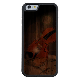 Artsy Violin Music Walnut iPhone 6 Bumper Case