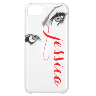 Artsy Woman's Eyes Personalized iPhone 5C Covers