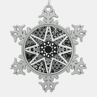 Artsy Zentangle Star Ornament