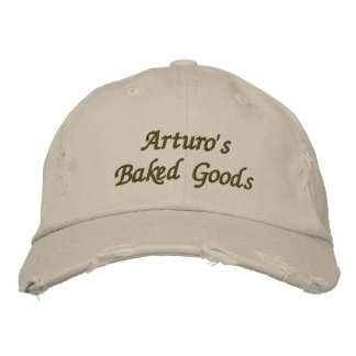 Arturo's Baked Goods & More Embroidered Hat