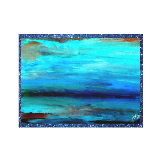 Artwork Ocean Waves Beach Painting Blue Waves Gallery Wrapped Canvas