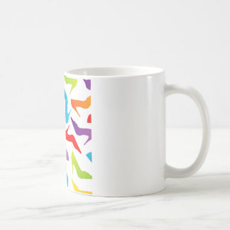 Artwork with ladies shoes coffee mug