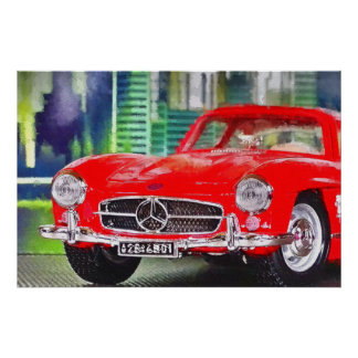 Artworks by Jean Louis Glineur: Talk 300 SL Poster