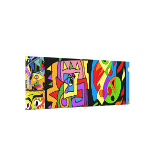Arty art canvas print