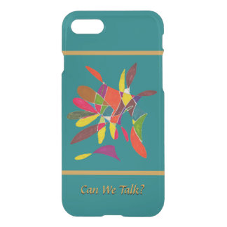 Arty Colorful Pencil Sketch Can We Talk iPhone 7 Case