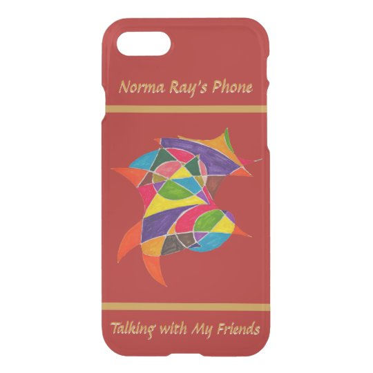 Arty Colourful Pencil Sketch with Name and Text iPhone 7 Case