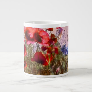 Arty poppies large coffee mug
