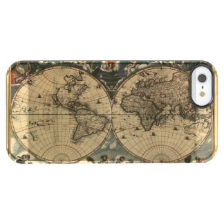 Arty Vintage Old World Map Clear iPhone SE/5/5s Case