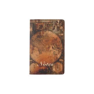 Arty Vintage Old World Map Pocket Moleskine Notebook