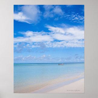 Aruba, beach and sea poster