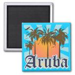 Aruba Beaches Sunset Fridge Magnets