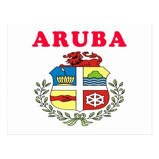 Aruba Coat Of Arms Designs Postcard