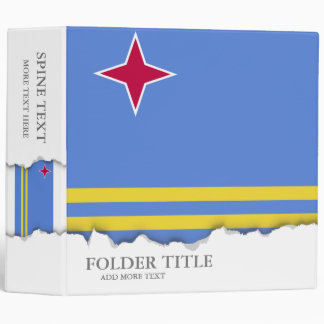 Aruba flag 3 ring binders