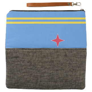 Aruba Flag Clutch