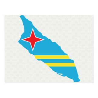 Aruba Flag Map full size Postcard