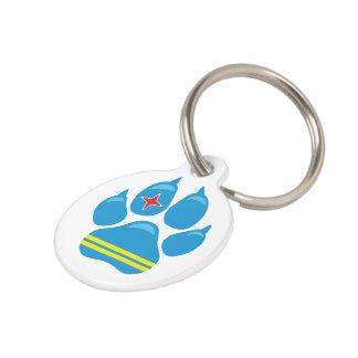 Aruba Flag PAW Dog ID Tag