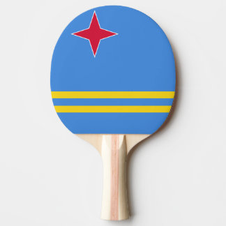 Aruba Flag Ping Pong Paddle