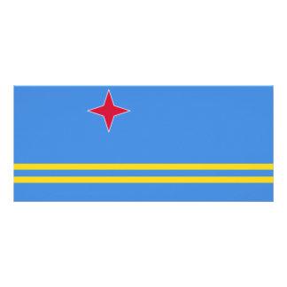 Aruba Flag Rack Card