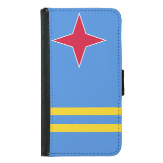 Aruba Flag Samsung Galaxy S5 Wallet Case