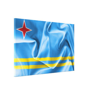 Aruba Flag Wrapped Canvas