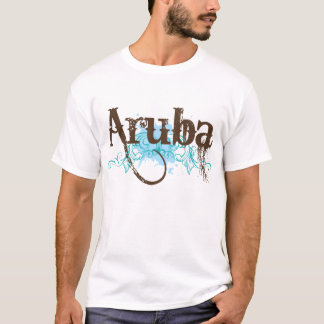 Aruba Grunge Travel Tee Shirt For Men