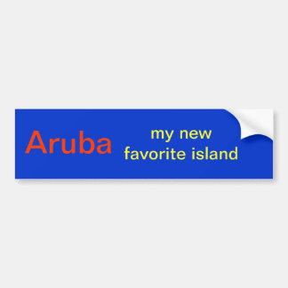 Aruba island sticker bumper sticker