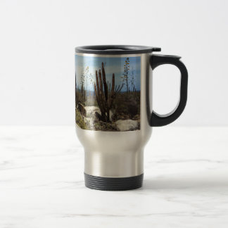 Aruba Landscape With Cactus Travel Mug
