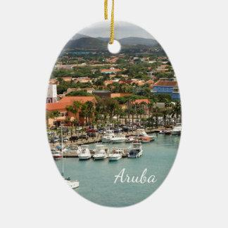 Aruba Marina Ceramic Oval Ornament