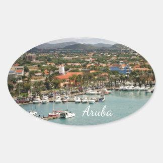 Aruba Marina Oval Oval Sticker