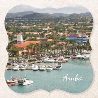 Aruba Marina Paper Coaster