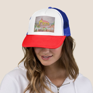Aruba pilgrims church trucker hat