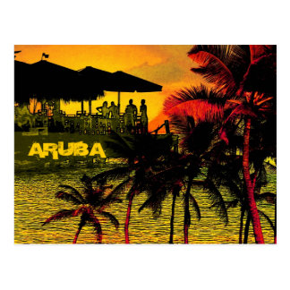 Aruba - plams, sunstet and ocean postcard