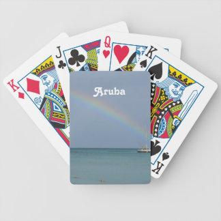 Aruba Rainbow Bicycle Playing Cards