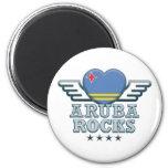 Aruba Rocks v2 Fridge Magnet