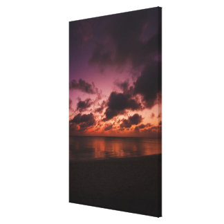Aruba, sea at sunset canvas print