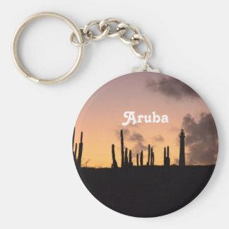 Aruba Sunrise Basic Round Button Keychain