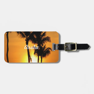 Aruba Sunset Luggage Tag