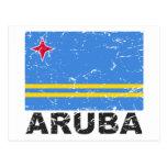 Aruba Vintage Flag Post Card