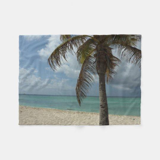 Aruban Beach I Beautiful Nature Scene Fleece Blanket