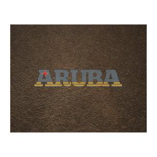 Aruban name and flag cork paper prints