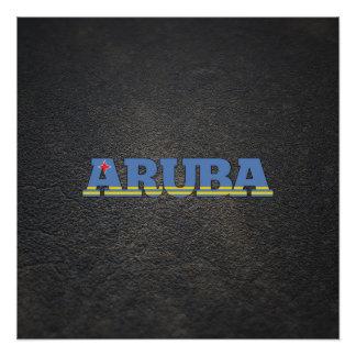 Aruban name and flag perfect poster