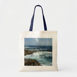 Aruba's Rocky Coast and Blue Ocean Tote Bag