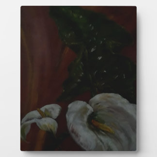Arum Lilies 1 Plaque