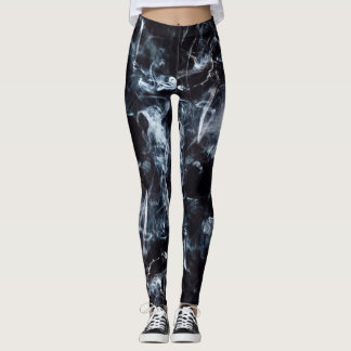 As Above is Below Smoke Skull Leggings