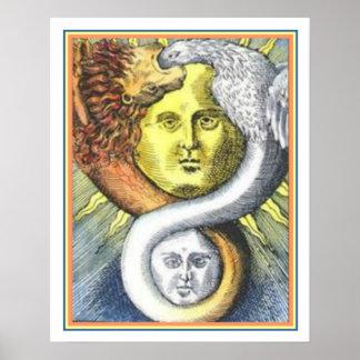 """As Above So Below"" Alchemy Print 16 x 20"
