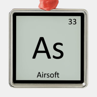As - Airsoft Sports Chemistry Periodic Table Metal Ornament