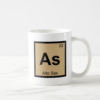 As - Alto Sax Music Chemistry Periodic Table Coffee Mug
